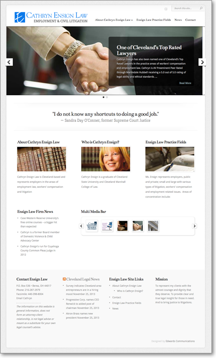Website design, copy writing and hosting by Edwards Communications