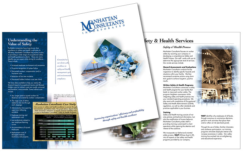 Corporate brochure design, copy writing by Barry Edwards, Edwards Communications