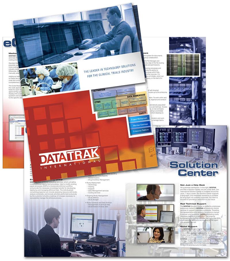 corporate brochure- Datatrak International by Barry Edwards, Edwards Communications