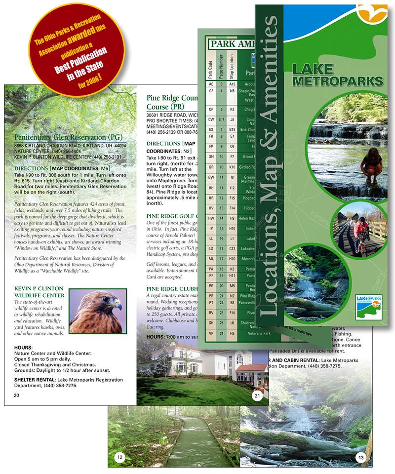 Award winning brochure for non profit by Barry Edwards, Edwards Communications